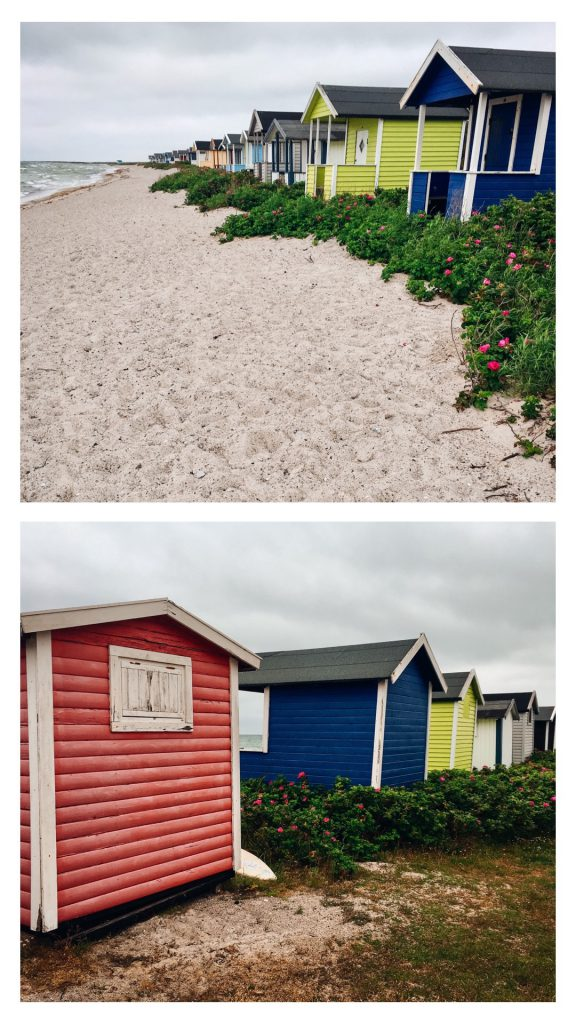 Badehäuser in Südschweden